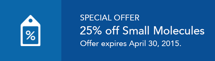 Save 25% off all small molecules